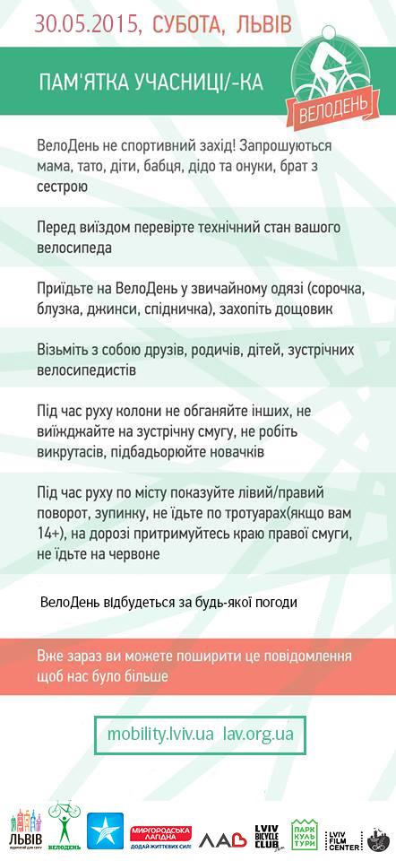 Велодень, Львів, 2015 пам'ятка