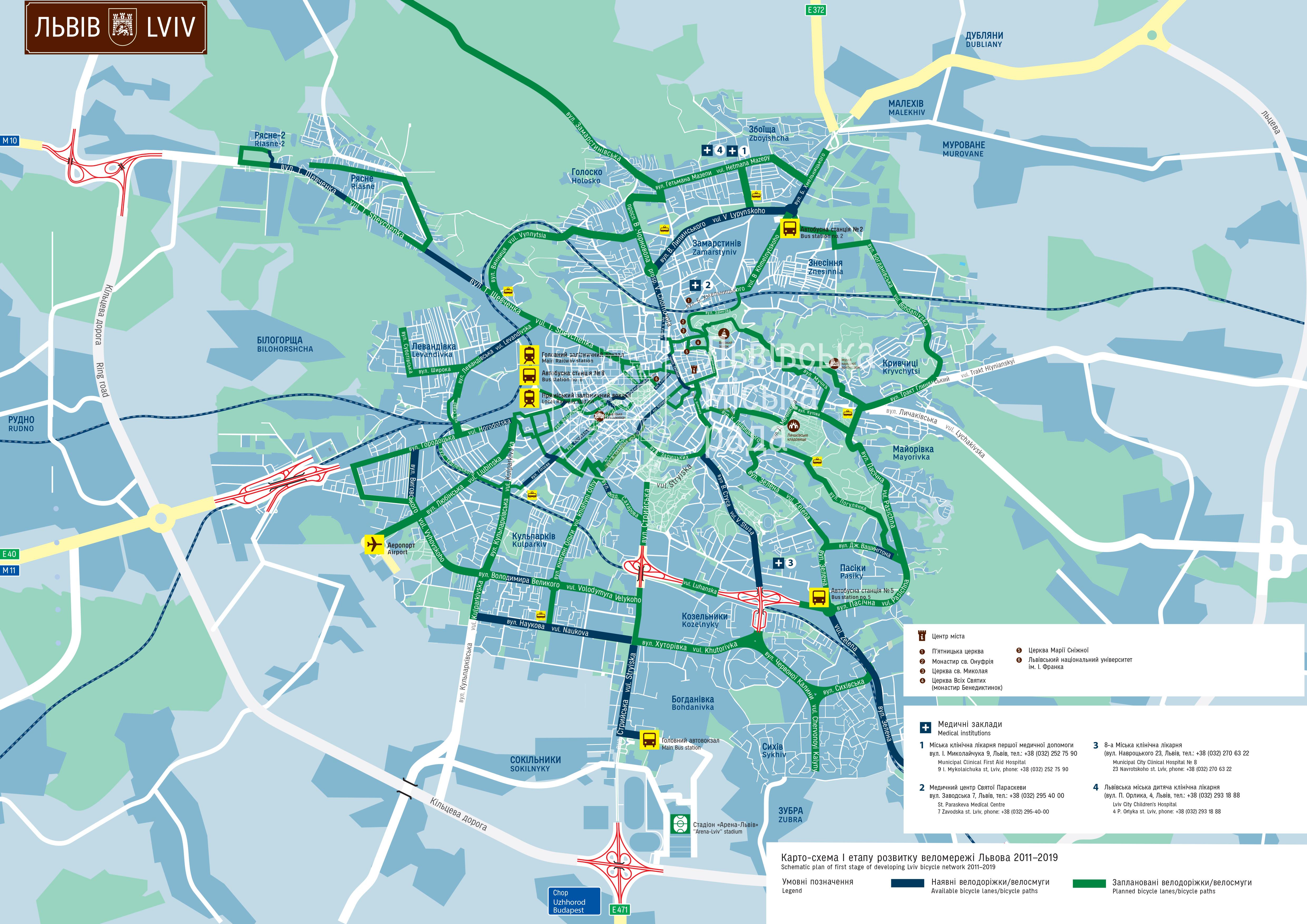 карта, мапа, веломережі, велодоріжок, Львів, Львова, 2015