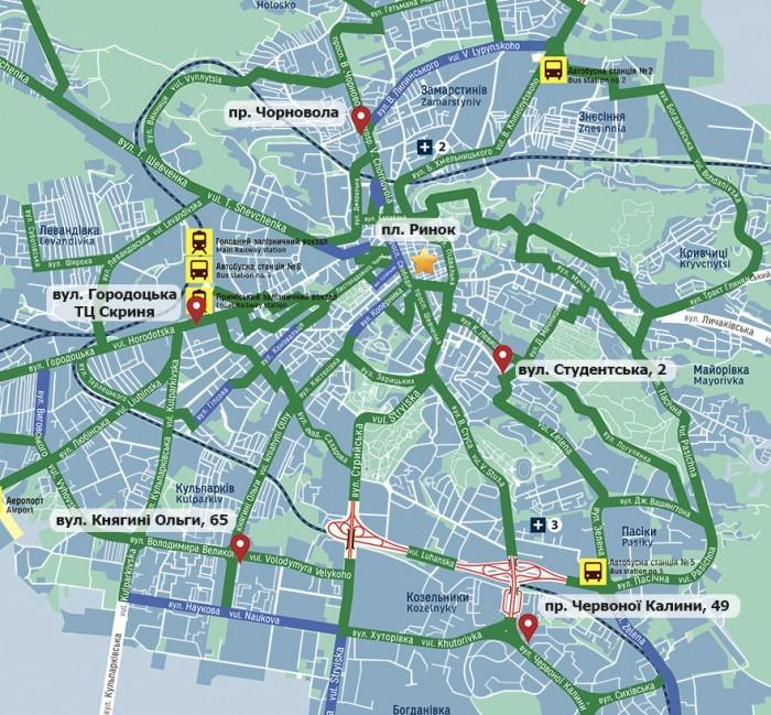 Карта вело
